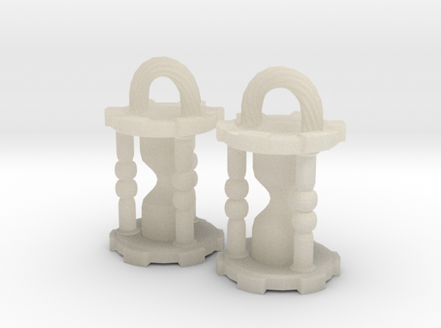 Hourglass Earrings 3d printed