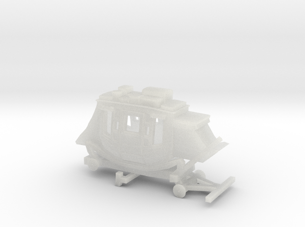Z Scale Stagecoach - No Wheels 3d printed