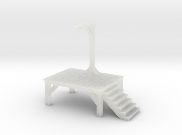 Gallows- Single Posted (Z Scale) 3d printed
