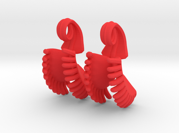 Venus Fly Trap Earrings (Small) 3d printed