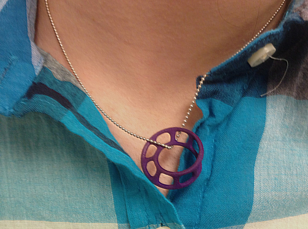 Wired Möbius Strip 3d printed As a pendant
