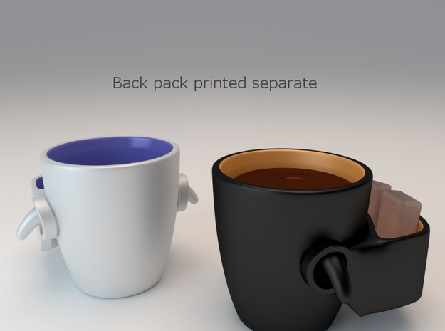 Backpack Mug 3d printed