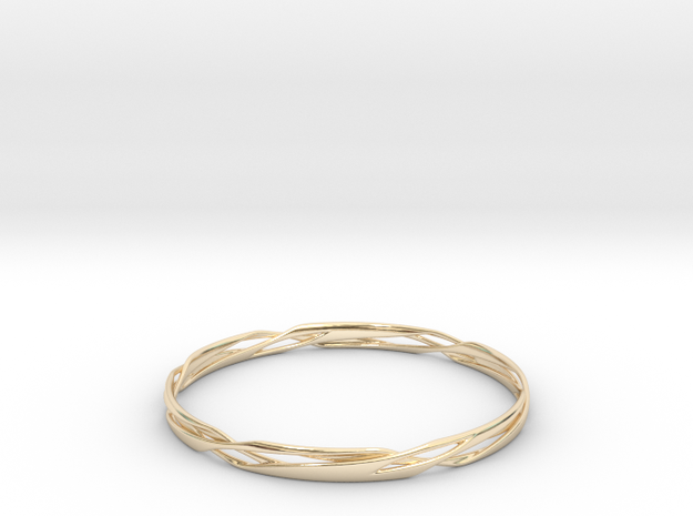 Stripes Bangle 3d printed