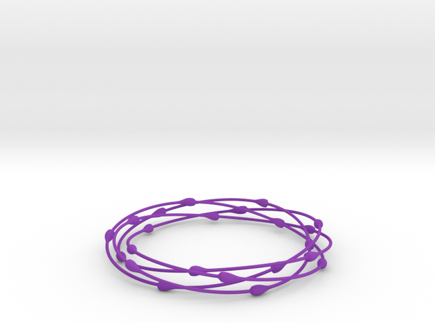 Droplet Bangle 3d printed