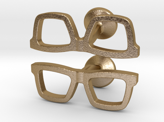 Hipster Glasses Cufflinks 3d printed