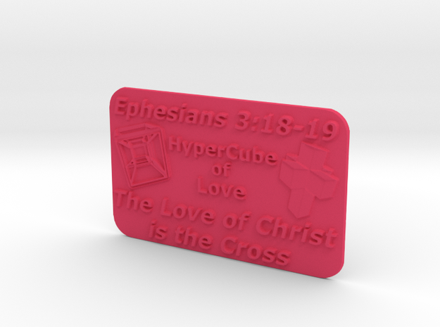 HyperCube Plaque (60 x 36 mm) 3d printed