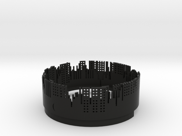 City lights small halogen light shade 3d printed