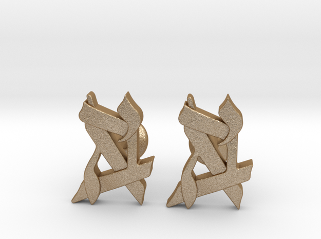 Custom Monogram Cufflinks 3d printed