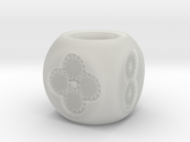Geared D6 Prototype 3d printed