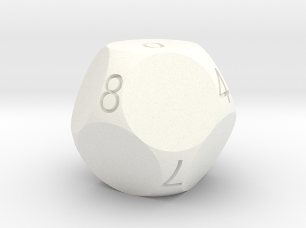 D10 4-fold Sphere Dice 3d printed