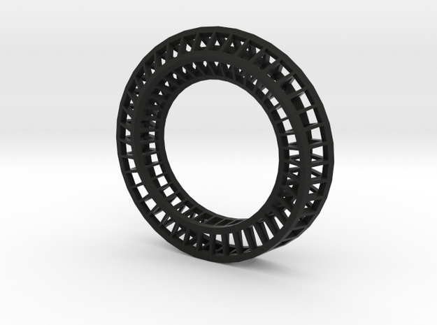 Roller coaster napkin ring 2 3d printed