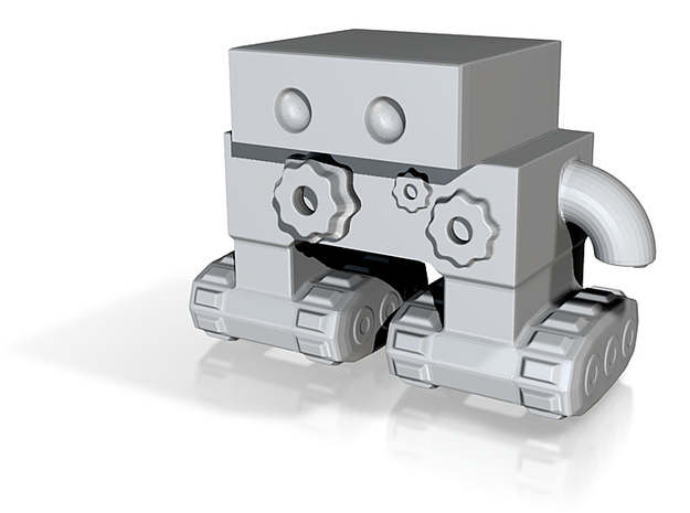 Robot 0046 Tread Bot v1 With Cogs and Gears 3d printed