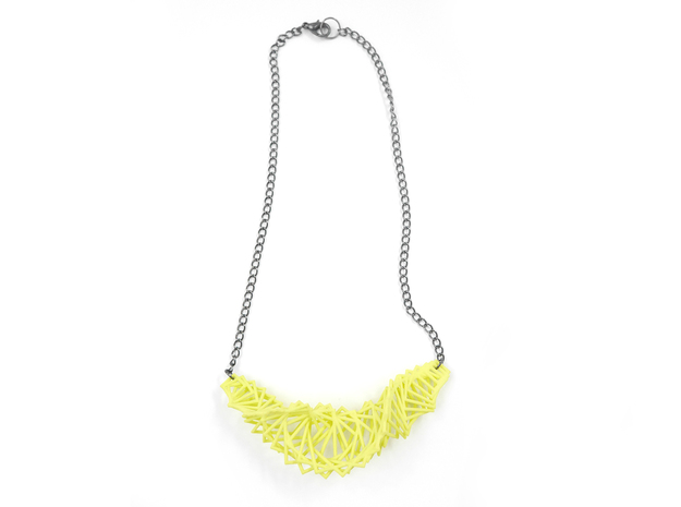 Arithmetic Necklace 3d printed Custom Dyed Nylon (Key Lime)