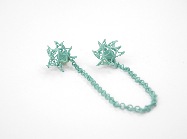 Aster Collar Tips 3d printed Custom Dyed Color (Teal)