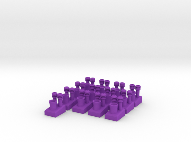 Power Plant Tokens for Power Grid Board Game 3d printed