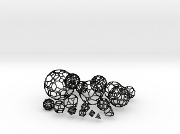 13 Archimedean solids & 5 platonic solids 3d printed