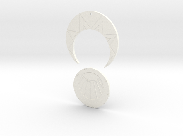 Estaban and Zia's Medallion from The Mysterious Ci 3d printed