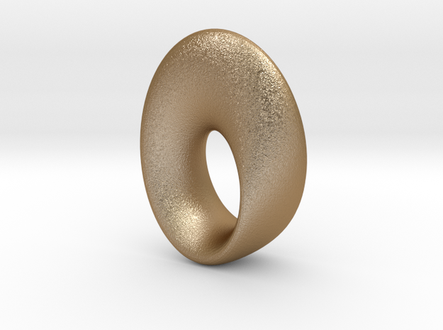 mobius torus oval 33 x 23 mm 3d printed