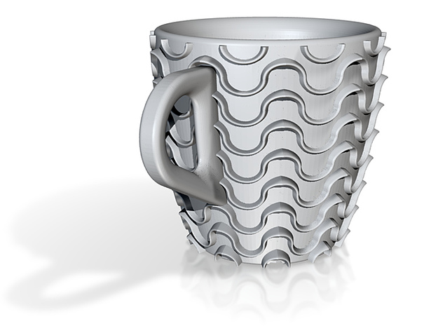 one cup a day | Day 22: Waves Cup 3d printed