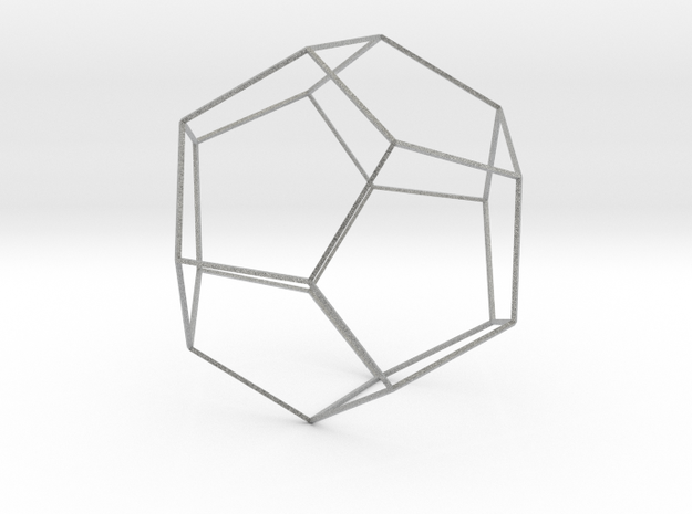 Dodecahedron Wireframe Thin 3d printed