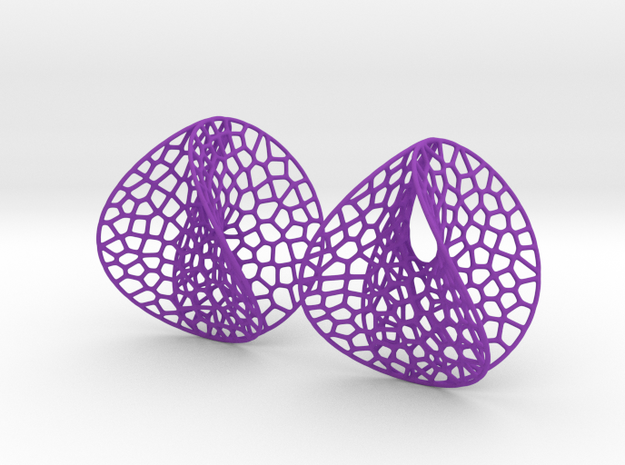 EVD Earrings (L / 7cm / 2.8 inch) 3d printed