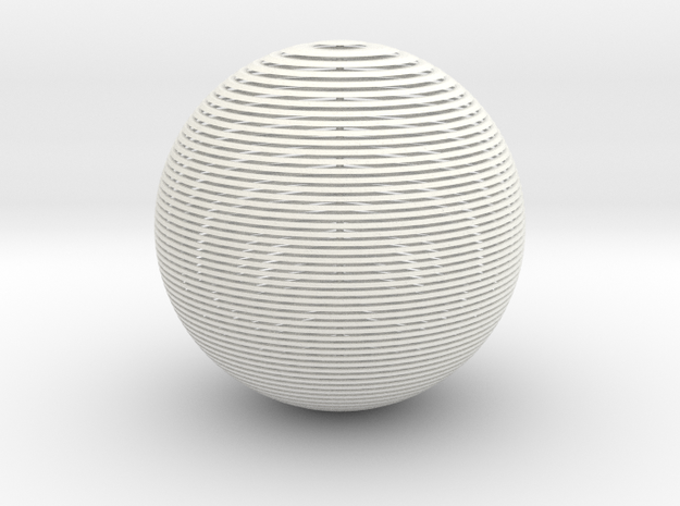 Striped Sphere 3d printed
