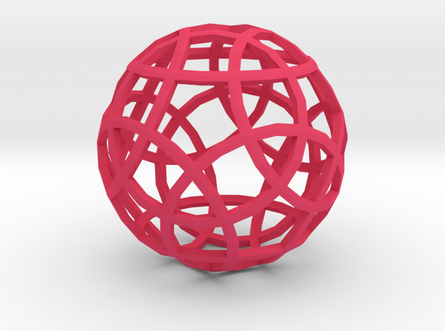 Circles 'Sixties Series 1' 3d printed