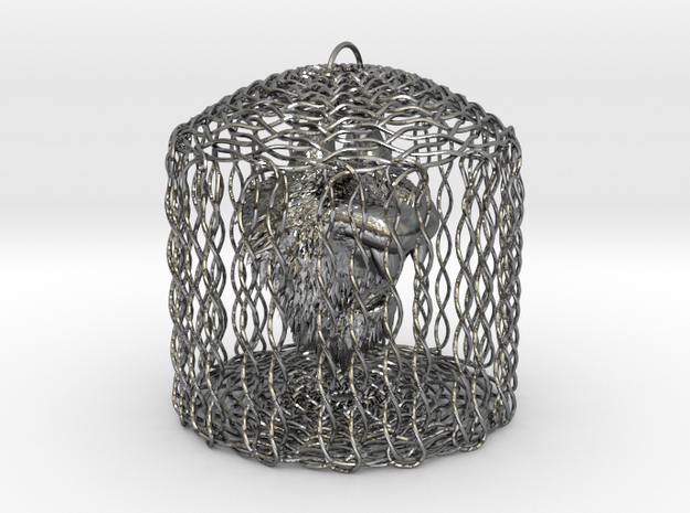 Caged Hairy Mongrel 3d printed