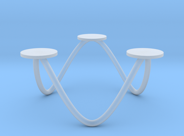 Votive Candle Holder - 6 Point Wave Circle 3d printed