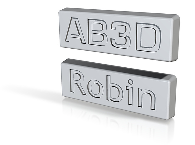 2 name tags for Camera Cases 3d printed