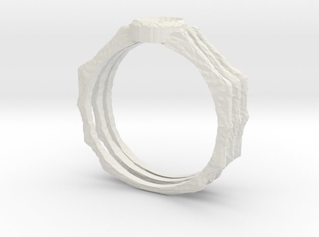 Spider Ring -v3 (size 14-ish in Steel) 3d printed