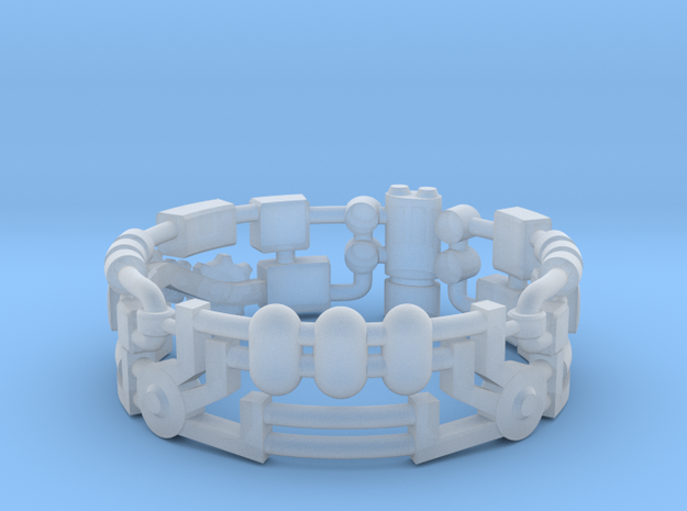 Mecha Ring (size 15ish in metal) 3d printed