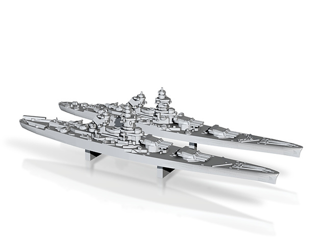 48FN01 French Navy Battleship Pack 1 3d printed