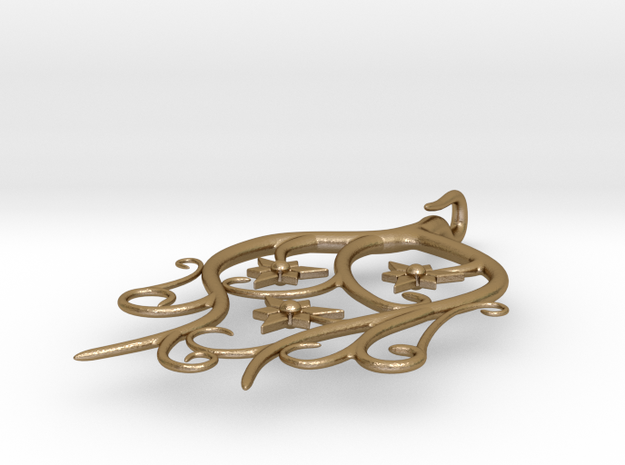 Tendril Pendant 3d printed