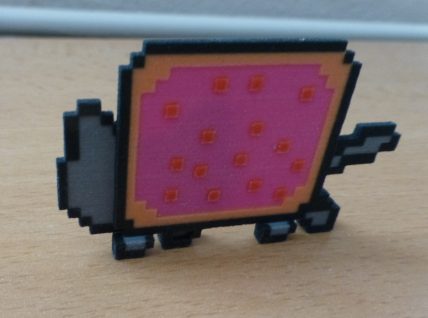 Nyan Cat 3d printed Back view
