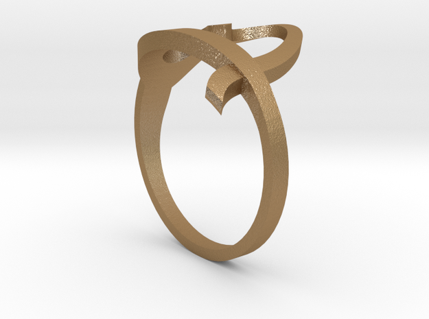Continuous Heart Ring 3d printed