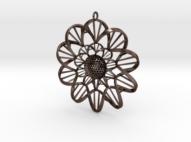 DNA FLOWER PENDANT 3d printed
