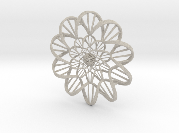 """DNA"" Flower Wall Ornament 3d printed"