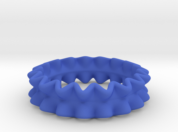 Rufflier Ring 3d printed