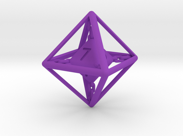 Chained die 8-sided 3d printed