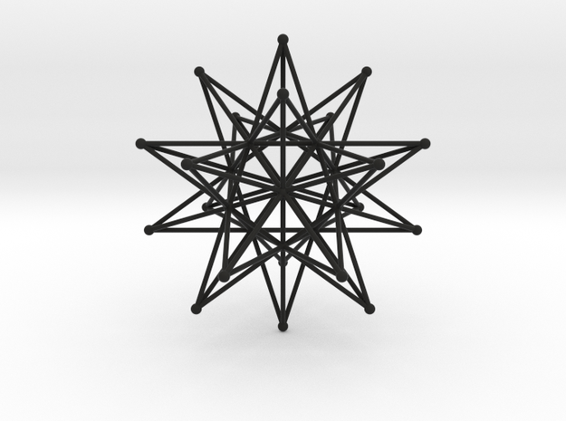Stellated icosahedron (thin) 3d printed