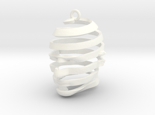 Escherian Head Earring 3d printed