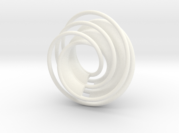 Twin Rail Mobius can-take-a-ball - Pendant 3d printed