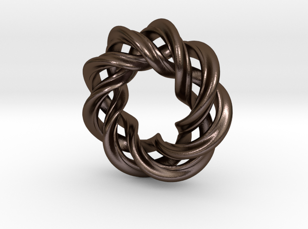 Charm Bead 3 strand mobius spiral 3d printed