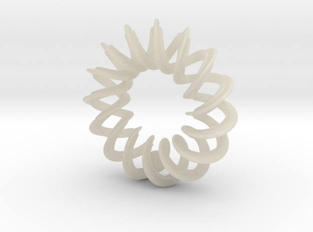 2 strand Mobius spiral with 5.6mm ball - PENDANT 3d printed