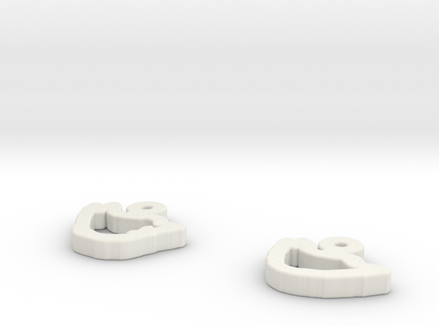 draw-earrings-4.stl 3d printed