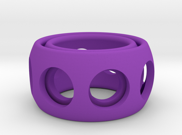 Ring'n'Roll w/ holes 3d printed