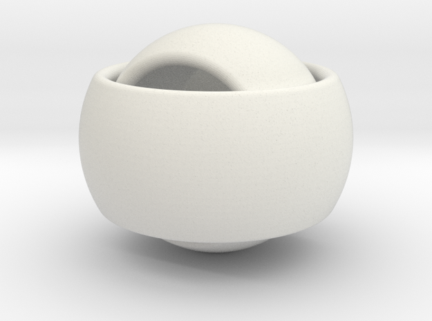 Ring'n'Roll 3d printed Alumide (flat)