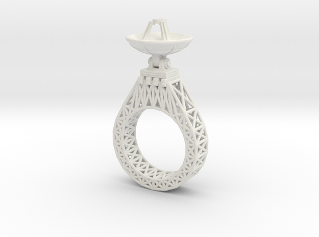 Parabola Ring 3d printed