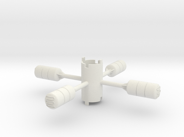 B.Y.O.S.S. 4 cylinders horzontal 3d printed